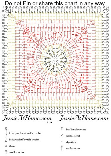 Flame-Square-free-crochet-pattern-by-Jessie-At-Home-chart | Flickr