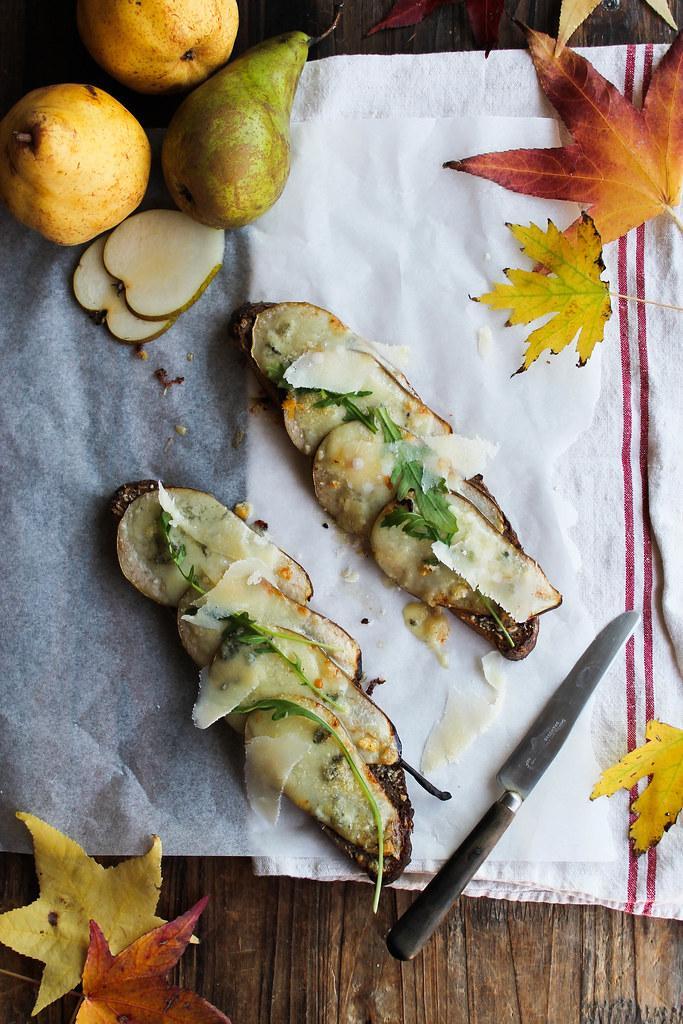 Tartine roquefort recette
