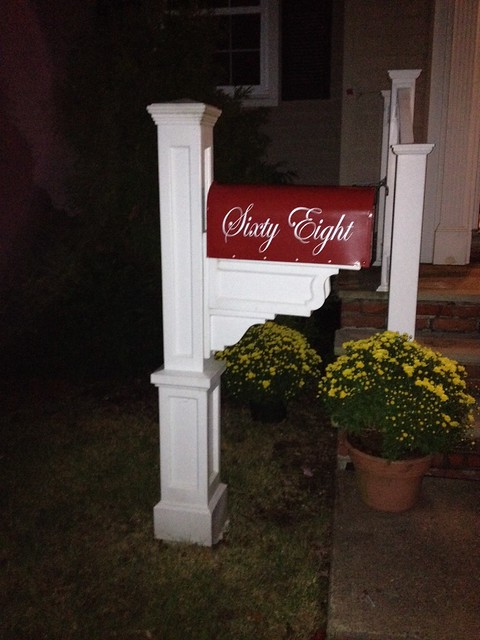 Colonial Red Painted Mailbox by TheBusBox