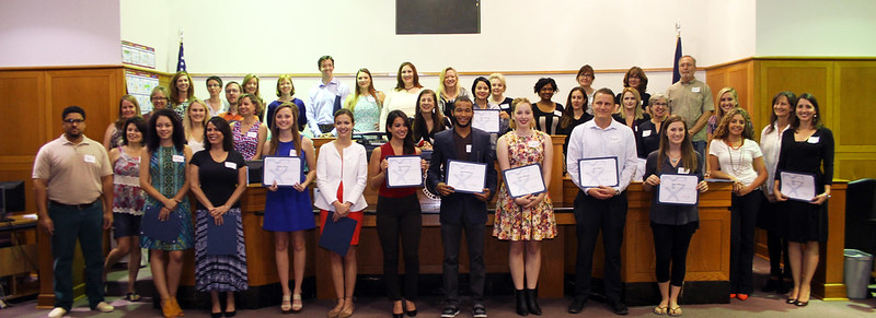 Newly sworn-in CASA volunteers