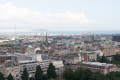 Original Camera Raw image taken from Edinburgh Castle in Scotland