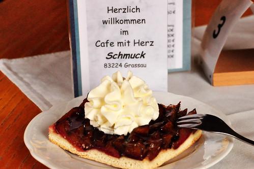 Kuchen Zwetschendatschi Café Schmuck Grassau lecker köstlich herbstlich Foto Brigitte Stolle Oktober 2015