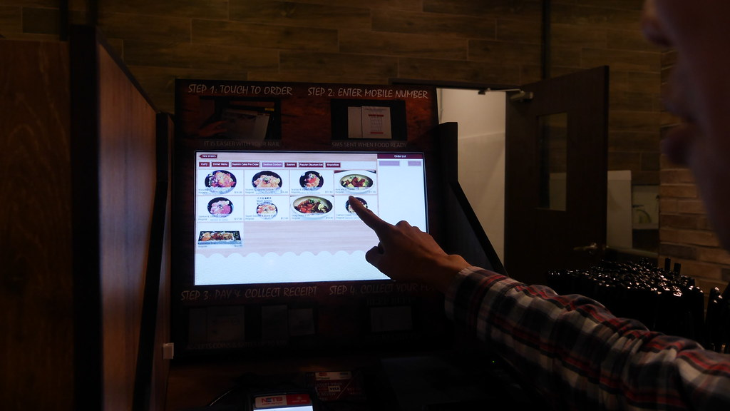Ordering using the E-kiosks is simple and straightforward.