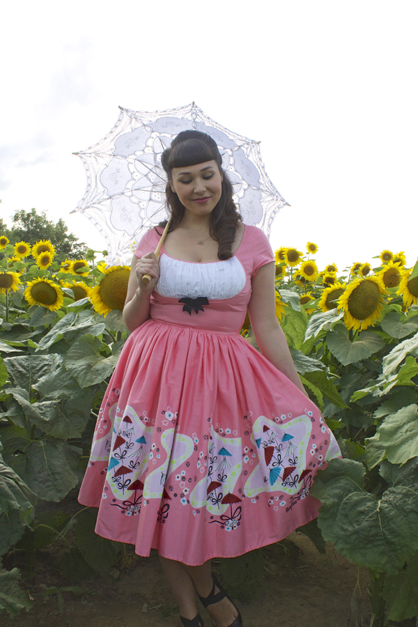 pinup girl clothing umbrella dress