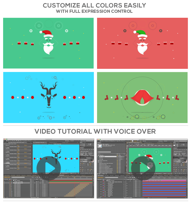 Christmas new year greetings by ouss videohive full hd preview available on youtubehere m4hsunfo