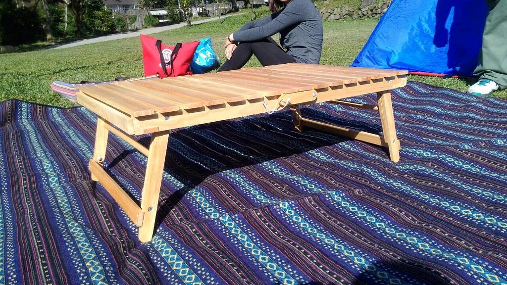 摺疊桌 木 地墊