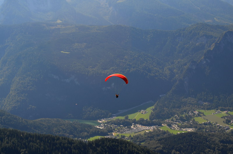 Paraglider over Berchtesgaden National Park