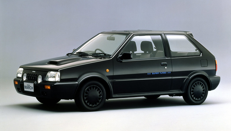 80's monochromatic Nissan Super Turbo March