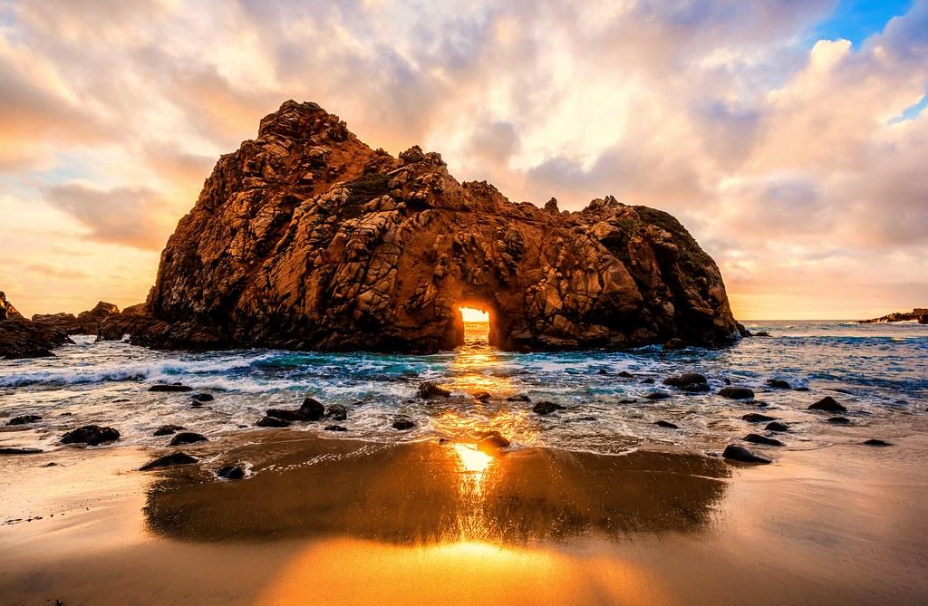Nikon D810 Hdr Photos Keyhole Rock Sunset Through The The
