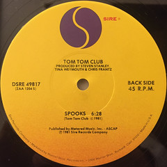 TOM TOM CLUB:WORDY RAPPINGHOOD(LABEL SIDE-B)