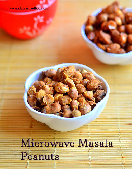 Masala Peanuts Recipe - Microwave & Deep Fried Versions