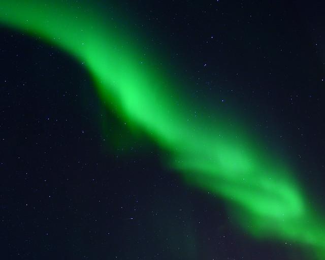 Aurora Boreal en el cielo de Noruega