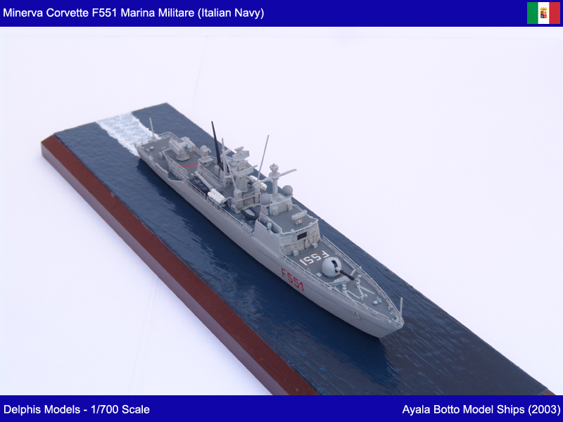 Corvette Minerva F551 Marina Militare - Delphis Models 1/700 21142584004_024360124f_c