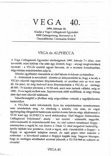VCSE - VEGA 40
