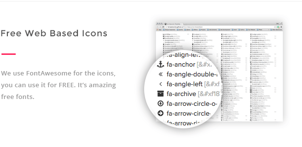 Free web based icons