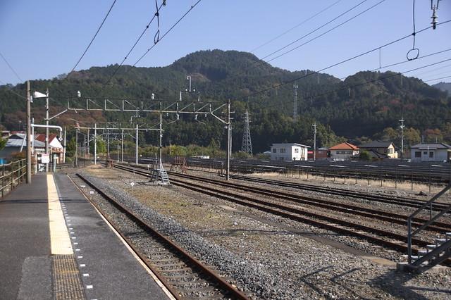 Kuzu station freight yard