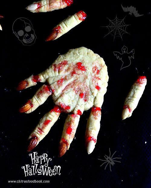 Eggless Halloween Witch Finger Cookies Recipe