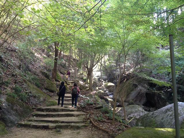 鬼岩公園 Ryo-anへの道