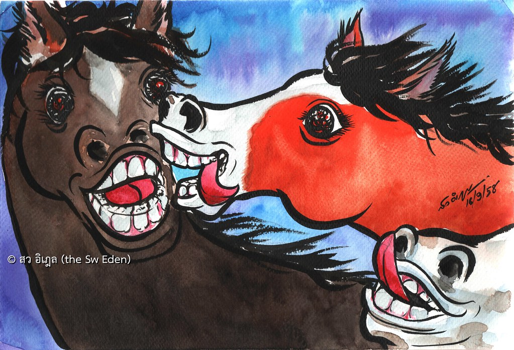 Forced to lick horse boss employee employers copyright