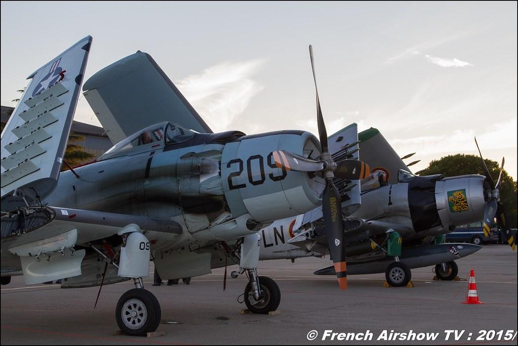 Douglas AD-4N Skyraider F-AZDP et WARBIRD DOUGLAS AD-4N SKYRAIDER F-AZHK ,Feria de l'air nimes garons 2016, Meeting Aerien 2015