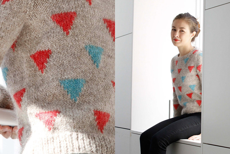 Happy Triangles knitting pattern by Kiyomi Burgin