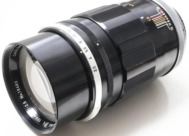 二手鏡頭 香港 . . . Canon FL 135mm f/2.5 (FL) 又稱美人鏡 A7專用