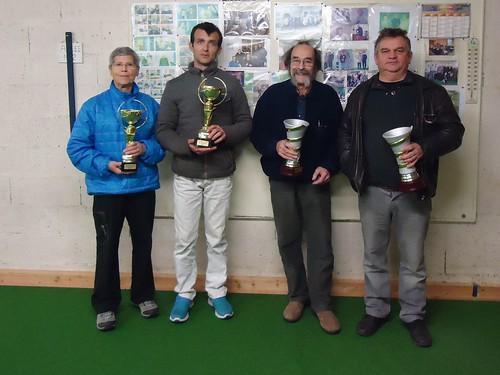 05/12/2015 - Saint Martin des Champs : Les finalistes du concours de boules plombées en doublettes formées