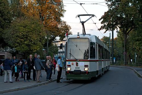 Anfang und Ende der Fahrt erfolgten am Betriebshof in der Schleife Schülestraße
