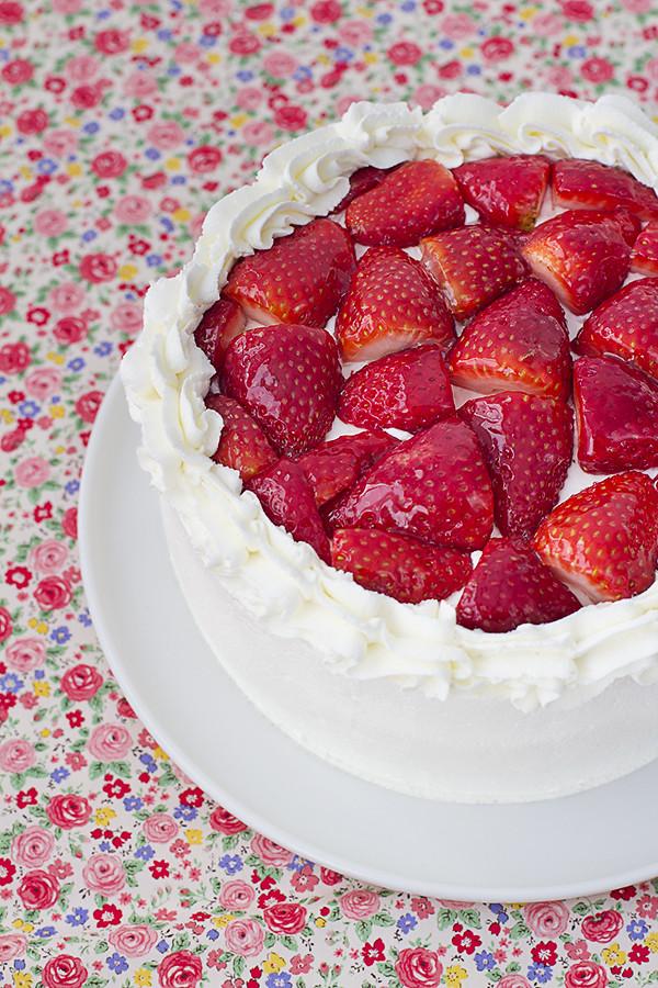 tarta fresas nata