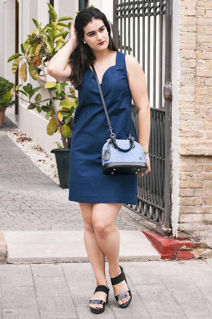 something fashion valencia blogger, LV alma bag vuitton epi, spain moda blog, bimba y lola dress