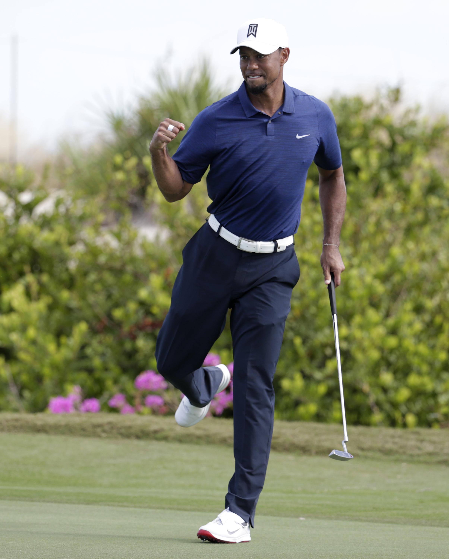 Tiger Woods繳出65(-7)桿無柏忌佳績。(達志影像)
