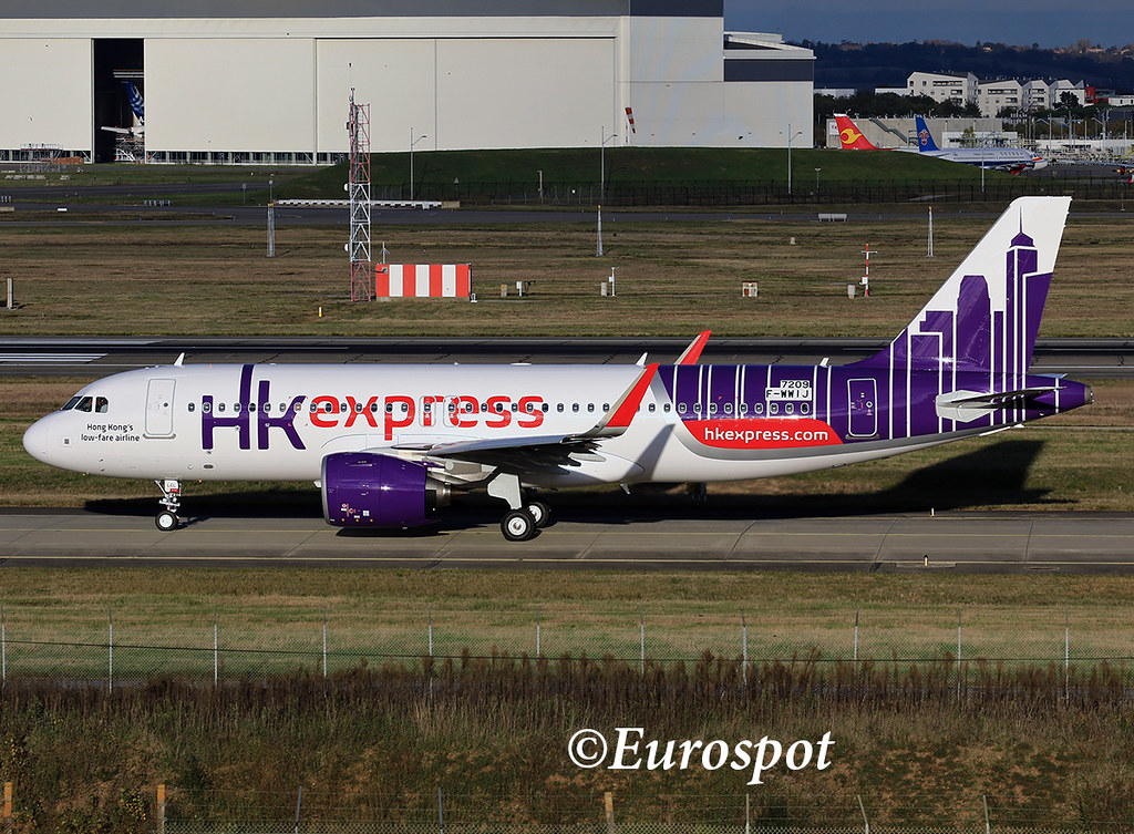 F-WWIJ   Airbus A320-271N HK Express s/n 7209 (B-LCL)   @Eurospot ...