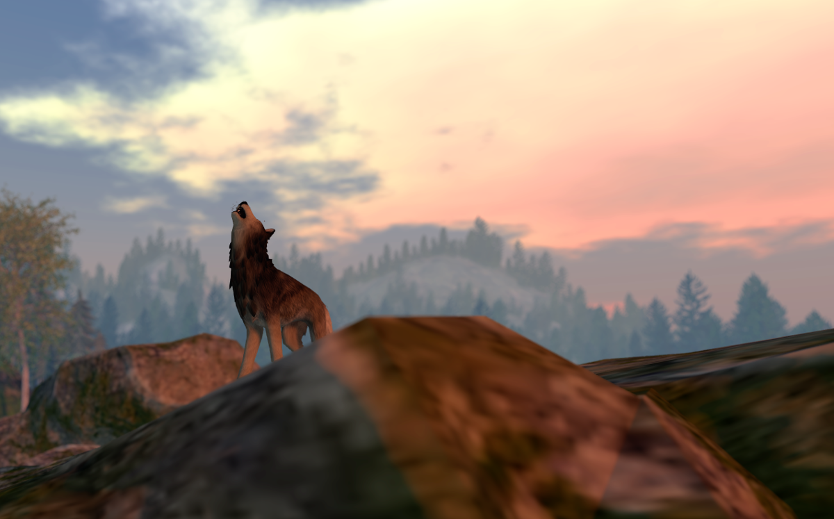 A wolf in Wolf's Redemption, Second Life