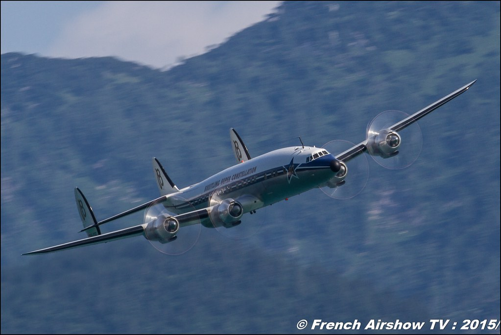 Lockheed L-1049F Super Constellation, Breitling Super Constellation Flyers ,HB-RSC, Sankt Wolfgang / St Wolfgang : Austria , scalaria air challenge 2015, Meeting Aerien 2015