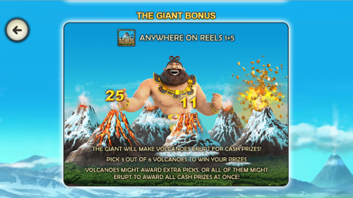 free Jackpot Giant Mobile bonus feature