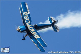 Breitling Bücker , Bücker Breitling aerobatic , Bucker Bu-131 Jungmann F-AZVK, DITTINGER FLUGTAGE 2015 , Internationale Dittinger Flugtage , Dittingen Flugtage 2015 , Suisse Airshow , Dittinger Flugtage, Meeting Aerien 2015