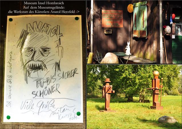 Museum Insel Hombroich bei Neuss ... Professor Anatol Herzfeld ... Schüler von Josef Beuys - Das Künstleratelier ... Fotos und Collagen: Brigitte Stolle 2016