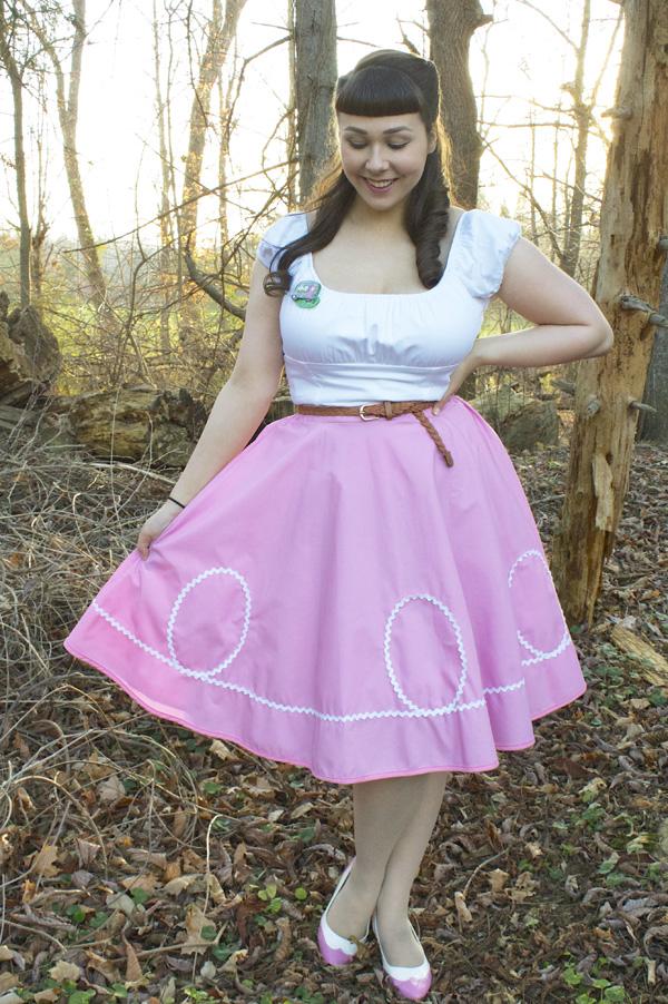 pink retro skirt