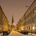 Oslo Street in the Snow, Uranienborg Church