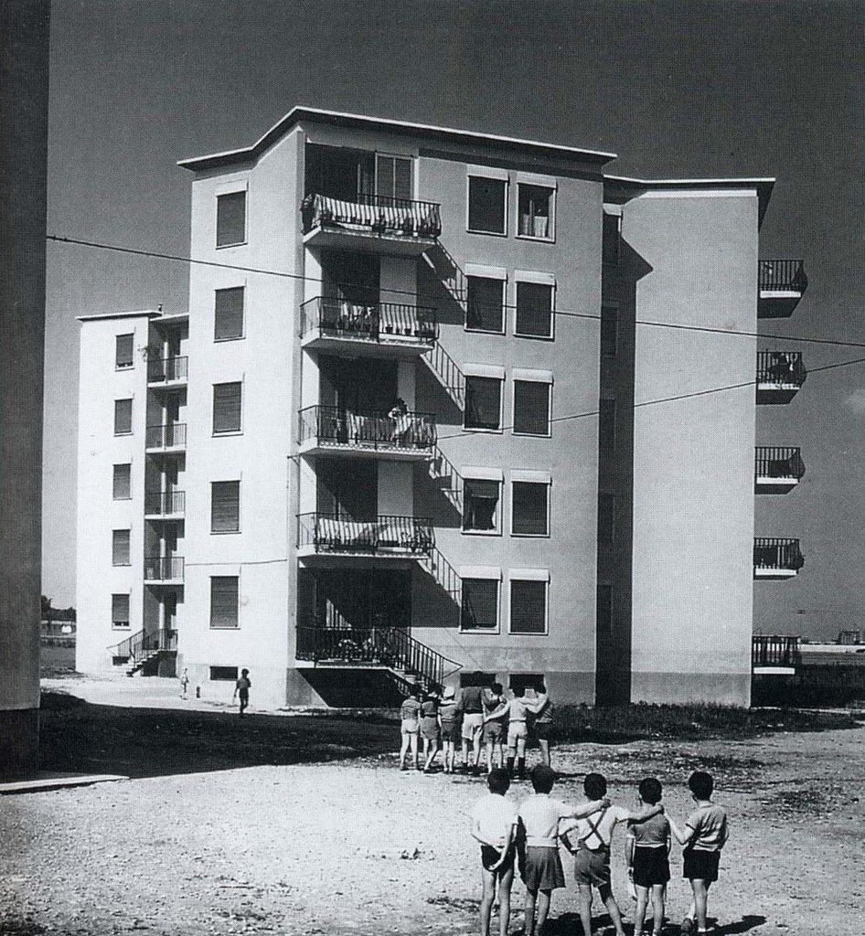 Musocco edifici per abitazione ina casa architetto fran for Franco albini architetto