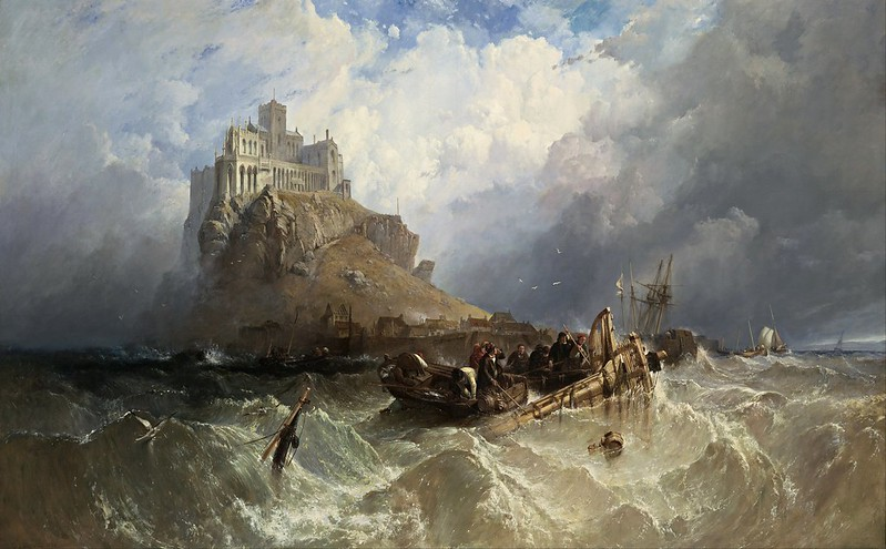 Clarkson Stanfield - Mount St Michael, Cornwall (1830)