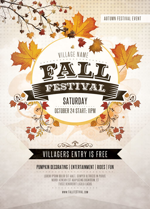Fall Festival Flyer Template You Can Download The Psd