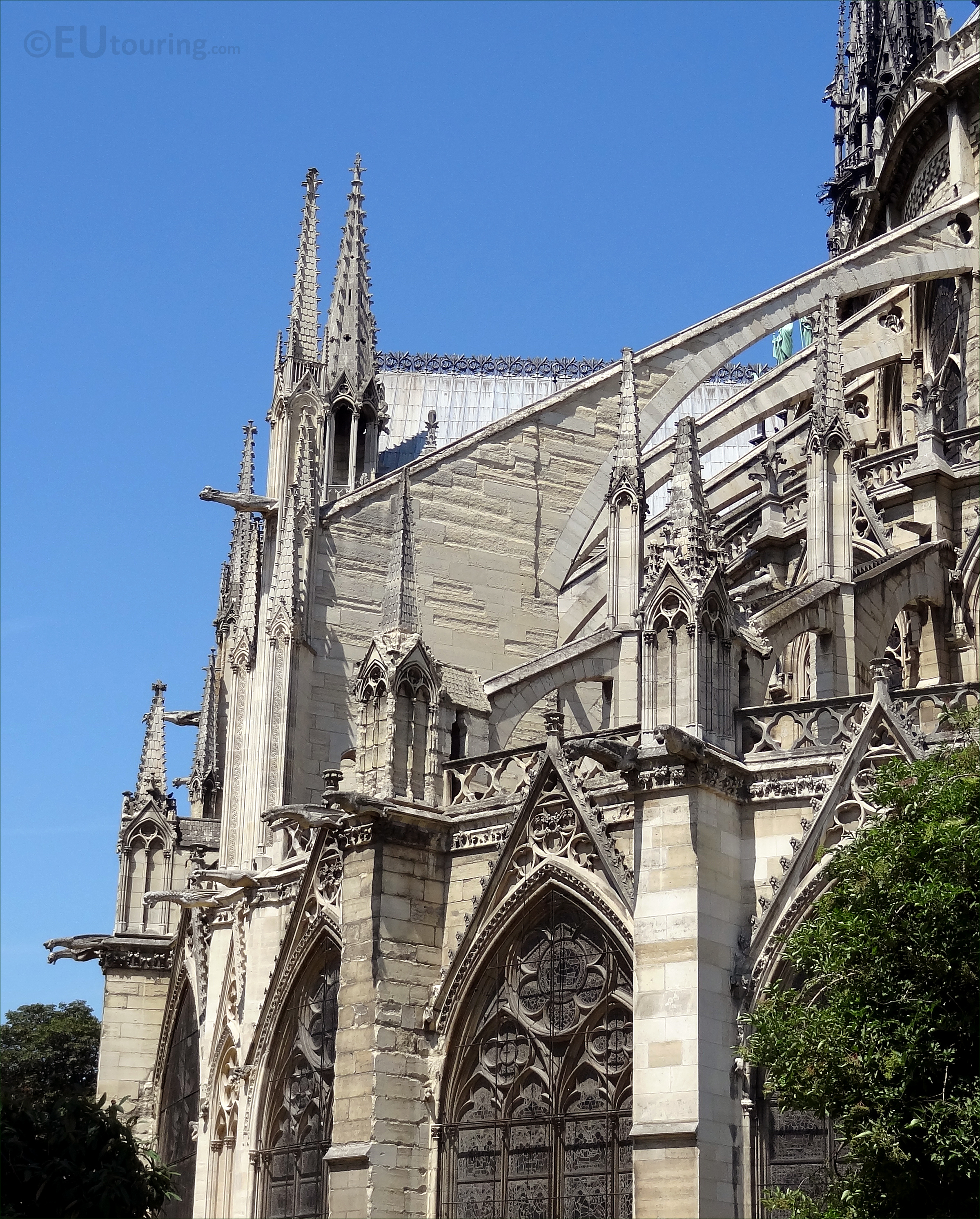 Details to the back of the Notre Dame