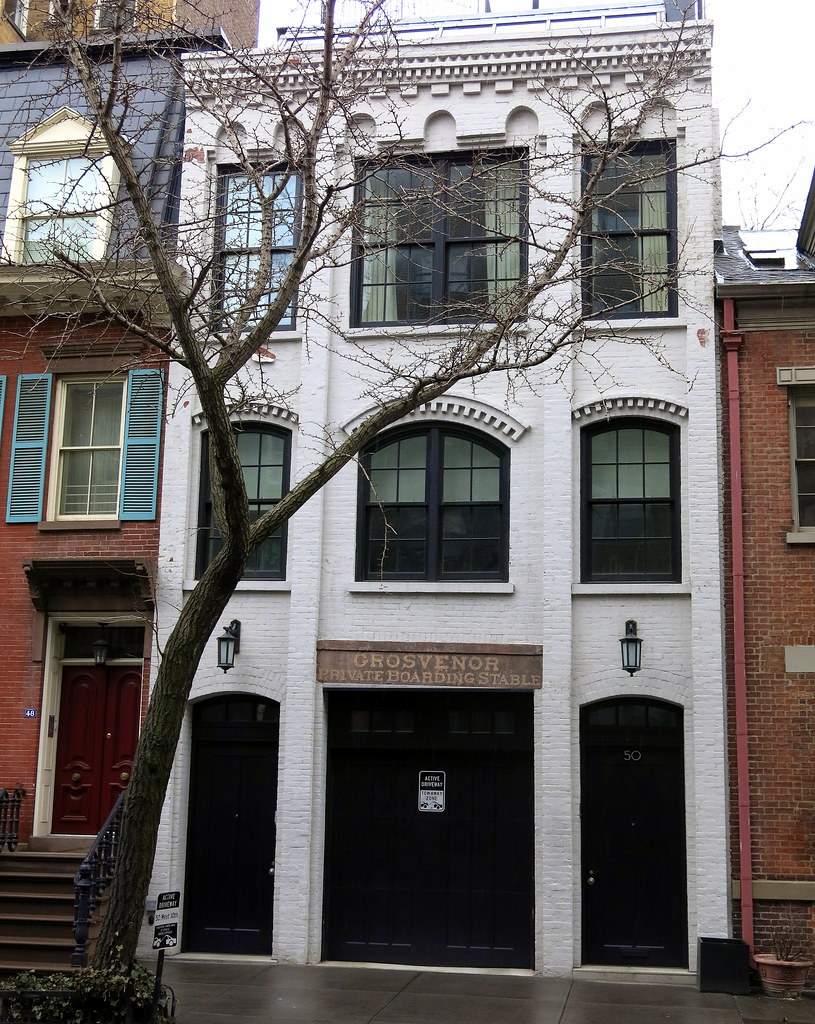 A handsome recently restored townhouse originally the gr for Townhouse with garage nyc