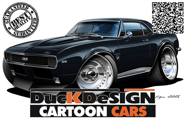 1967 Camaro Ss Cartoon Car Drawing Car Illustration