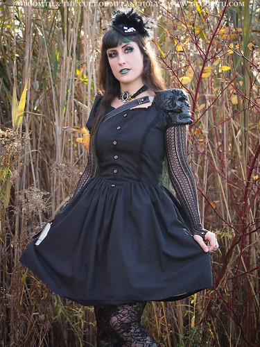 gothic dress by gloomth with skull armor