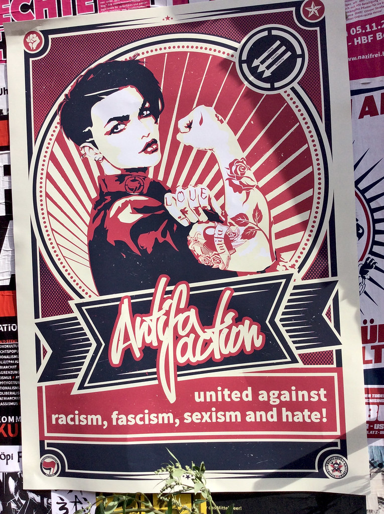 Antifa Poster linke t-shirts disorder rebel store linketshirts