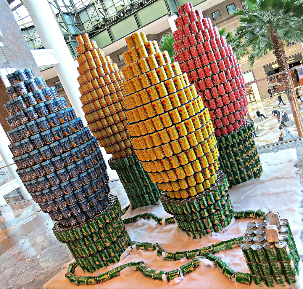 Photos: Disney-themed Canstruction exhibit opens at State ...  Canstruction 2013 New York