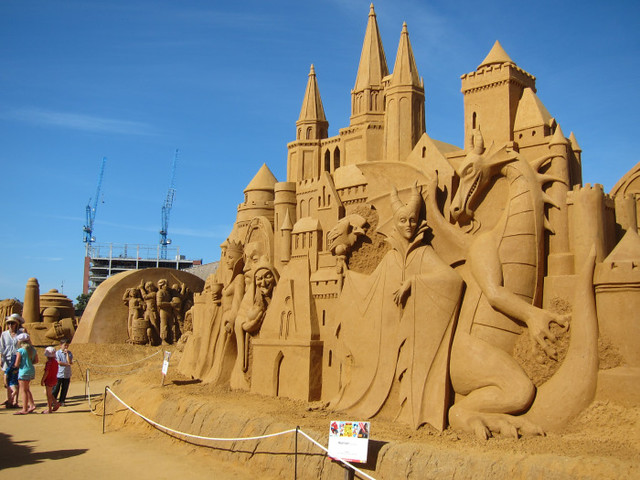 Disney Villains Sand Sculpture