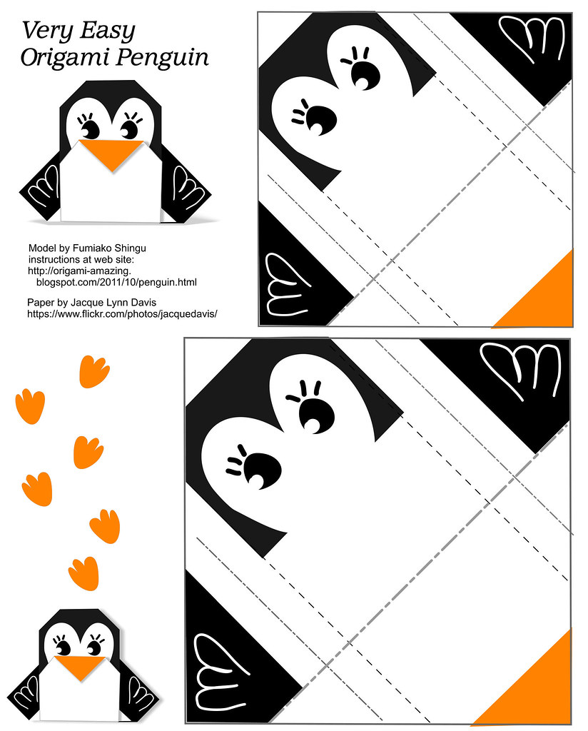 Origami Penguin - Very Easy - Paper To Print